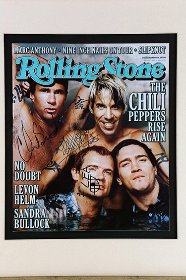 RHCP signed Rolling Stone cover for auction