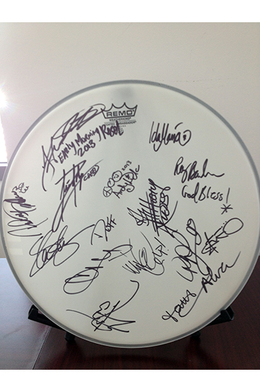 RHCP signed drum head up for auction